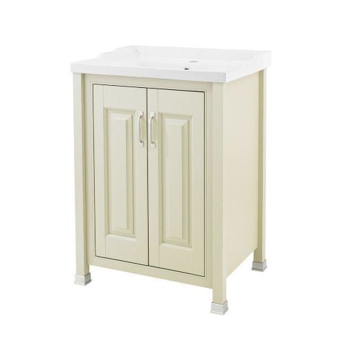 Rockingham Pistachio 600mm 2 Door Cabinet & Basin - 1 Tap Hole